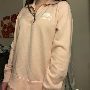 ✨pink oversized roots sweater✨